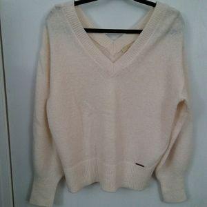 Michael Kors Blouson Sleeve V-Neck Sweater